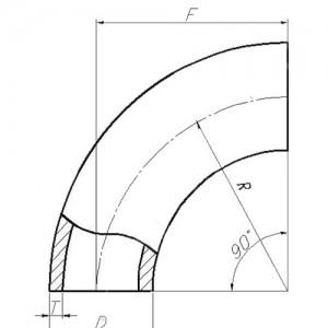 Отвод ИСО 88,9*2,0 AISI304L