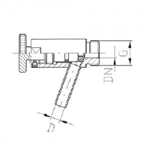 Пробоотборник DN10 К/М с гайкой AISI304L