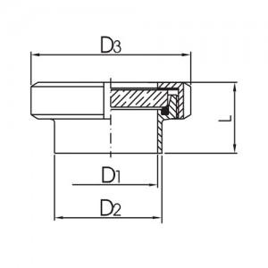 Смотровой диоптр гаечный Ду65 AISI304L