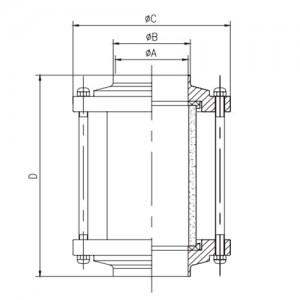Смотровой диоптр трубный под сварку Ду65 AISI304L