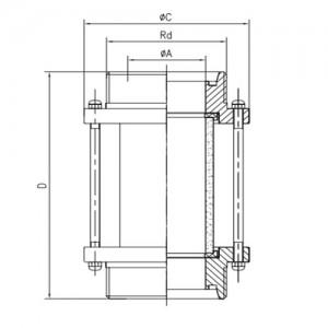 Смотровой диоптр трубный резьба/резьба Ду40 AISI304L
