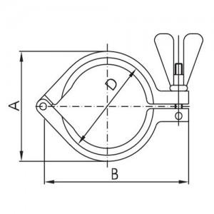 Скоба для соединения кламп Ду125 AISI304