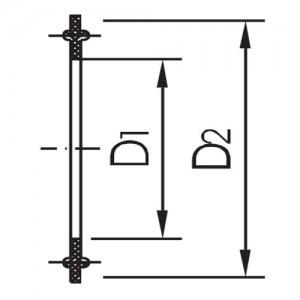Уплотнение для соединения КЛАМП Ду125 ЕПДМ
