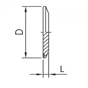 """Заглушка для соединения КЛАМП Ду65 (3"""") AISI316L полированная"""