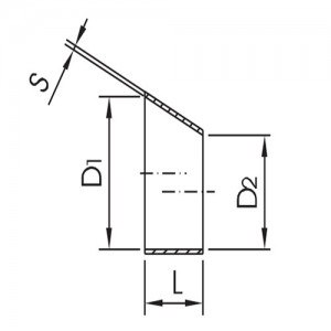 Переход эксцентрический DN40/20 DIN11852 AISI304L