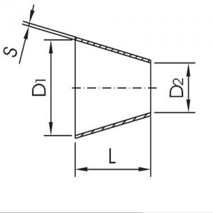 Переход конический DN40/15 DIN11852 AISI304L