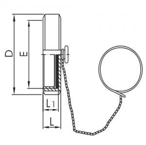 Гайка глухая Ду25 в сборе (с цепочкой и уплотнением) DIN11851 AISI304