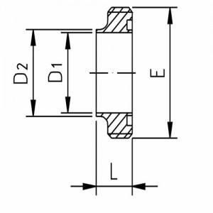 Штуцер резьбовой Ду15 DIN11851 AISI304