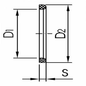 Уплотнение для резьбового соединения Ду125 НБР