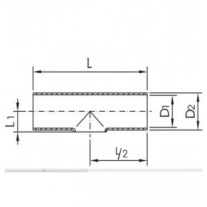 Тройник короткий Ду32/35*1,5 DIN11852 AISI304L