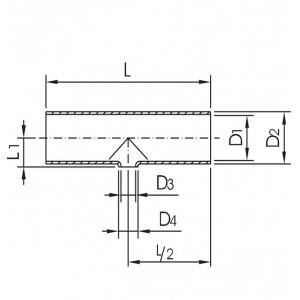 Тройник переходной Ду65/50 DIN11852 AISI304L