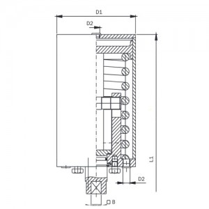 Пневмопривод Ду25-100 воздух/пружина AISI304L