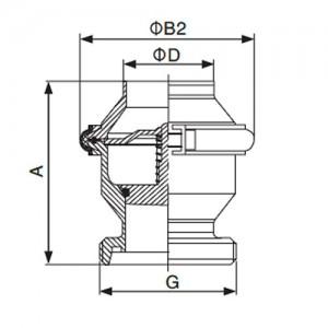 Клапан обратный Ду32 резьба/сварка AISI304L полированный