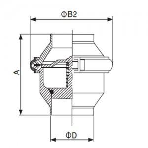 Клапан обратный Ду20 сварка/сварка AISI304L полированный