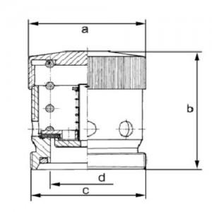 Клапан воздушный двойного действия Ду40 AISI 304L